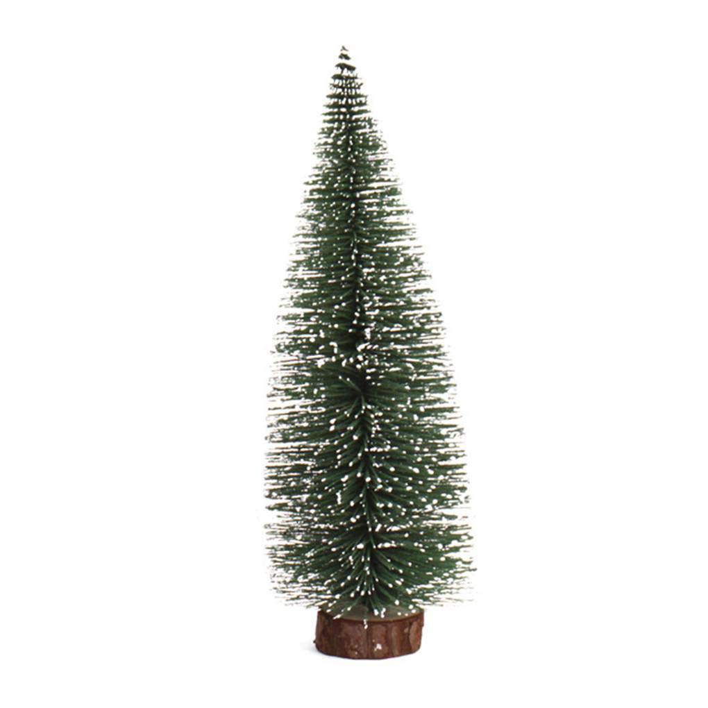 Miaomiaogo Artificial Tabletop Mini Pine Christmas Trees Decorations Festival Plastic Miniature Trees