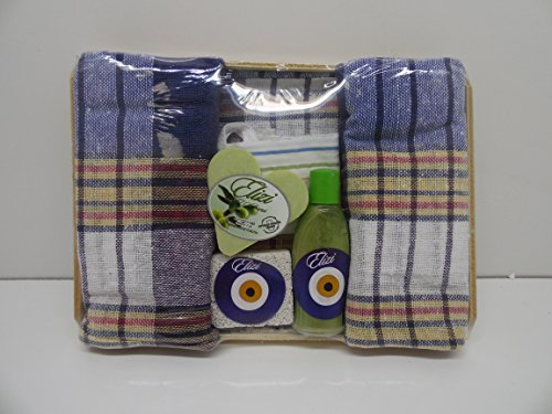 Elizi Turkish Bath Set Soap Heel Stone Peshtemal and Fiber Bath For Sale