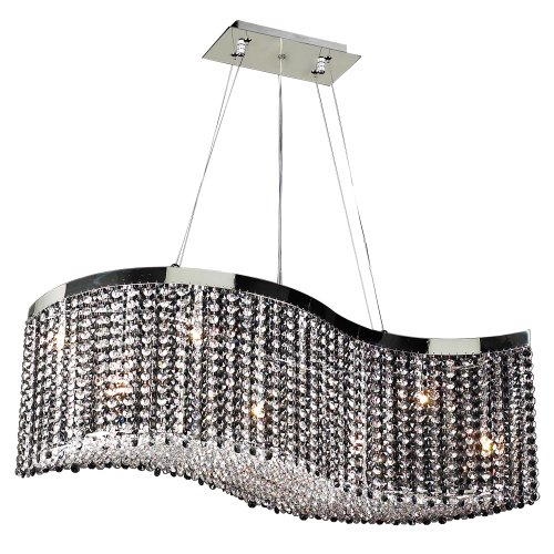 PLC Lighting 66020 BK/PC Chandelier from Clavius - II Collection
