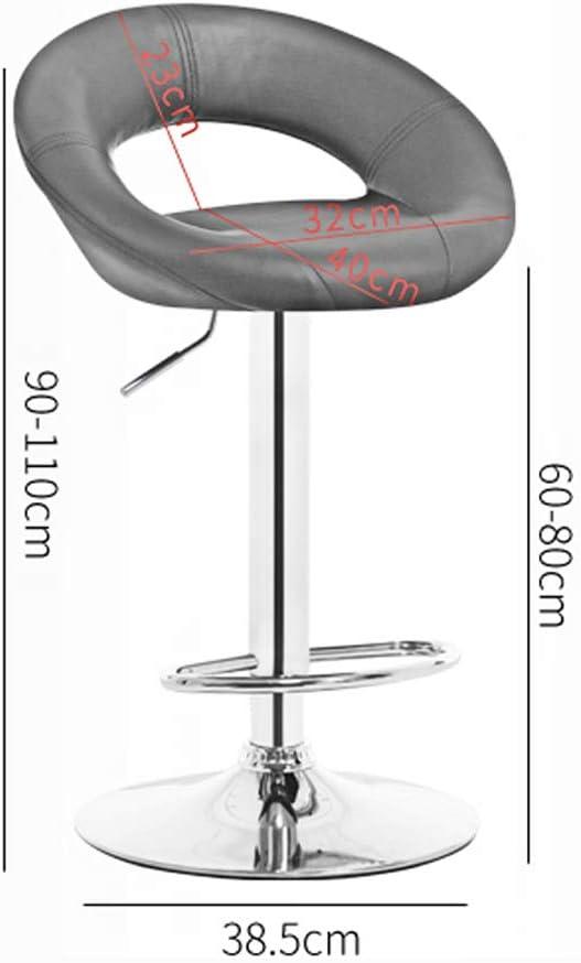 DQMSB Accueil fauteuil pivotant Tabouret haut Tabouret de bar Banquette Chaise de bureau à l'arrière (Couleur : Orange) Orange