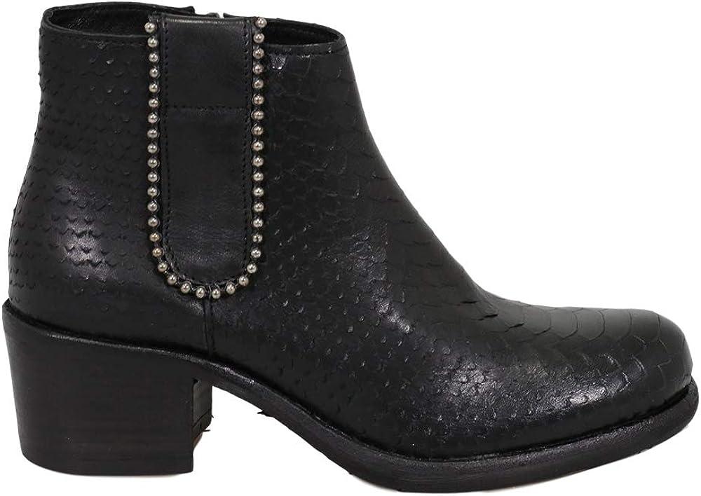 Felmini - Zapatos para Mujer - Enamorarse com GIANI2 B941 - Botines con Cremallera - Cuero Genuino - Negro