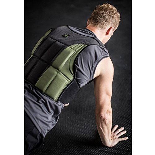 Harbinger Men's Adjustable Weight Vest for Cross-Training, Strength Training, and Endurance Workouts, 20 Pounds