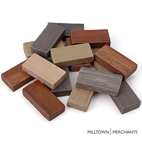 Milltown Merchants™ 7/8″ (22mm) Earthy Domino Mosaic Tiles, 1 Pound (16 oz) Bulk Assortment of Porcelain Mosaic Tiles – Brown, Beige, Gray Mix