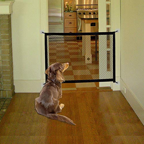 Magic Gate for Dogs|Portable Pet Safety Mesh Gate |Suits Width Between 34″ to 39″