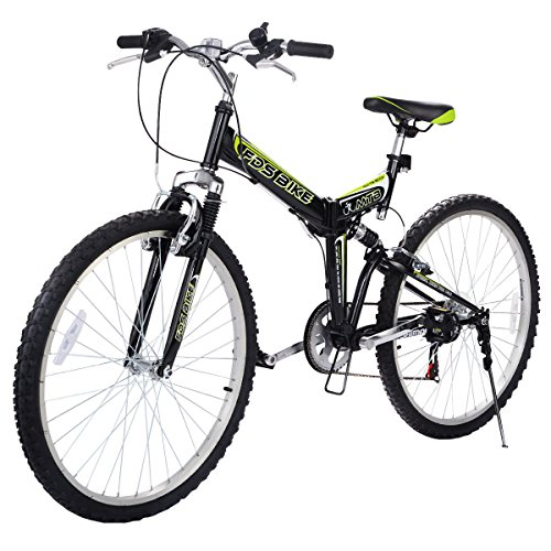 HPD 26'' Folding 6 Speed Mountain Bike Bicycle Shimano School Sport Black by HPD Bicycle