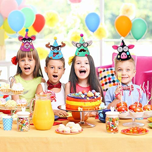 DIY Party Hats for Kids – Fun Art Kit – Group Activity Craft Supplies Games – Girls & Boys – Colorful Hats – Birthday, Thanksgiving, Spring Break, New Year, Christmas, Easter, Fiesta Decorations
