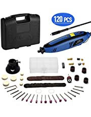 Holife Rotary Tool Kit Multi-Functional Tool 130W with 120pcs Accessories Set, Variable Speed 8000 to 30000 rpm for Craft Projects, DIY Creations, Cutting, Engraving, Drilling, Grinding