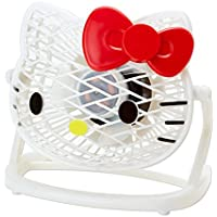 [Hello Kitty]Die cut USB desk fan-white