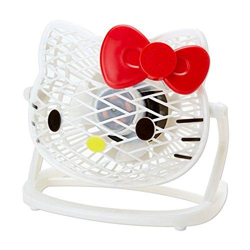 [Hello Kitty]Die cut USB desk fan-white (Kitty Hello Fan)