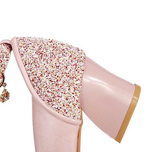 1TO9Mms02971 - Sandali con Zeppa donna, Rosa (Pink), 35 EU