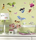 Roommates Rmk1493Scs Disney Fairies Wall Decals With Glitter Wings