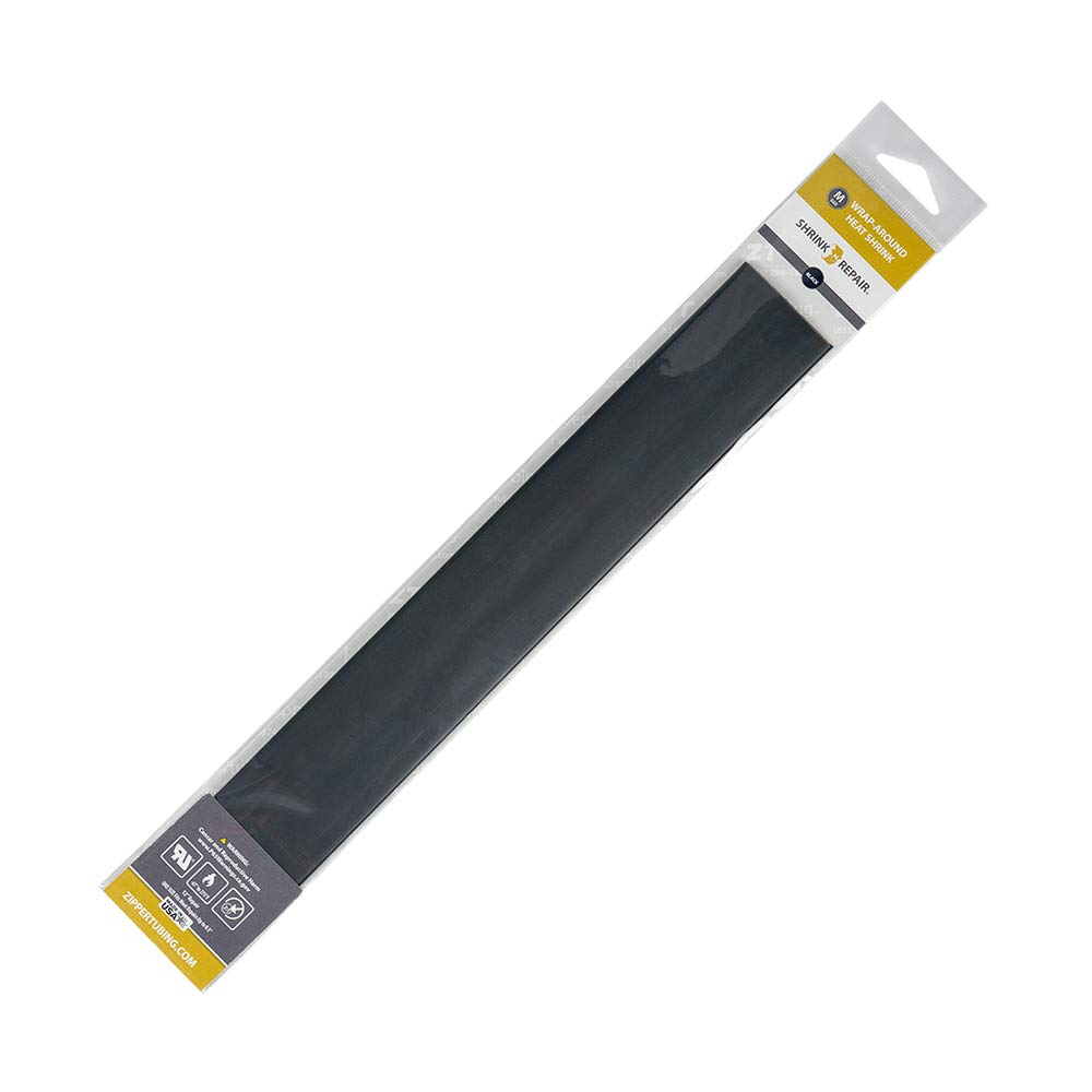 "Shrink-N-Repair - Wrap-Around Heat Shrink (Black) for Wire Diameters up to 0.5"" - 12"" Long"