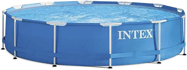 Intex 28212NP Piscina Redonda Metal Frame, con depuradora, 366X76 cm 6503 litros: Amazon.es: Jardín