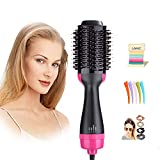 One Step Hair Dryer & Volumizer,Lanic 3 in 1 Hot Air Brush Negative Ion Generator Hair Dryer Brush for Dry, Straighten and Curling,Hair Styling Tools with Negative Ionic Technology for All types Hair