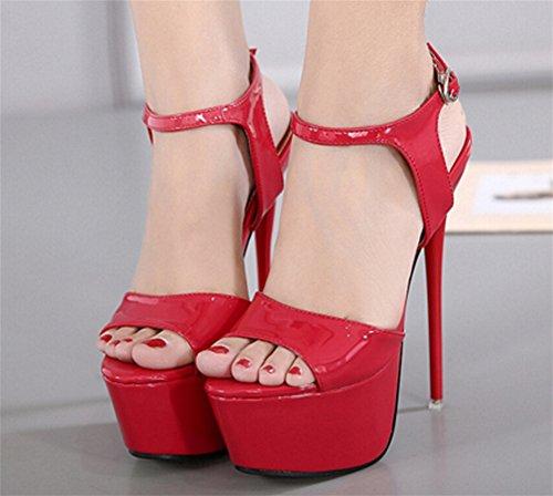 Plataforma Aguja Tacón Nightclub Nvxie Hollow Red Zapatos 34 De Mujer Alto Sandalias Outcrop Sexy 39 qRnxCXtHwx