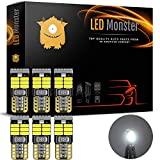 LED Monster 6pcs T10 Wedge Best Value Super Bright High Power 3014 18-SMD 194 168 2825 W5W White LED Bulb Lamp for Car Truck Interior Dome Map Door Courtesy License Plate Lights