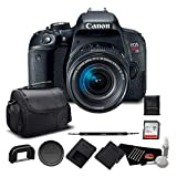 Canon EOS Rebel T7i DSLR Camera 18-55mm Lens 1894C002 – Bundle 32GB Memory Card, Extra Battery + More
