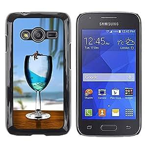 LECELL -- Funda protectora / Cubierta / Piel For Samsung Galaxy Ace 4 G313 SM-G313F -- Cute Sea Star Ocean Glass --