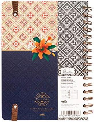 Agenda escolar 2019/2020 A5 12 meses Semana Vista Frida Kahlo: Amazon.es: Oficina y papelería