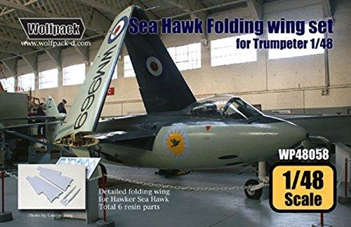訳あり商品 ウルフパック1 : 48 Hawker Sea Sea 48 Hawk Folding Wing Set 樹脂# for Trumpeter Kit – 樹脂# wp48058 B017AYVNC2, 緑花木ネットストアー:ca784de5 --- calloffice.com.tr