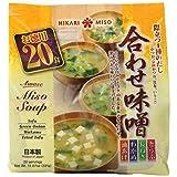HIKARI Awase Instant Miso Soup Variety Pack, 20 Servings
