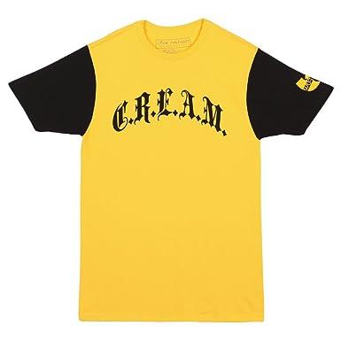 Amazon.com: Wu-Tang Clan C.R.E.A.M. Logo Adult T-shirt - Yellow ...
