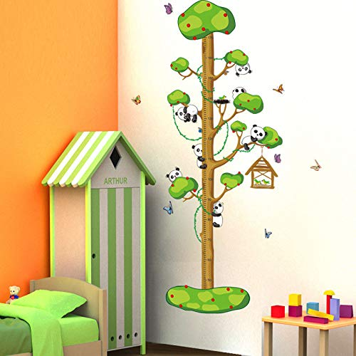 Wall Sticker SoungNerly Personality Creative Living Room Bedroom Height Stickers Cartoon Painting Baby Children Room Removable Kindergarten for $<!--$13.99-->