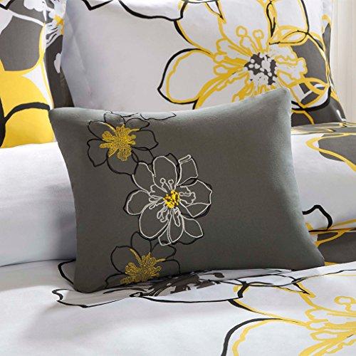 Mizone Allison 3 Piece Comforter Set, Yellow, Twin/Twin X-Large (Set Long Extra Comforter Twin)