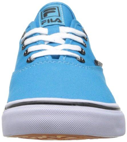 Fila de zapatos de la lona clásica Neon Blue/White/Black