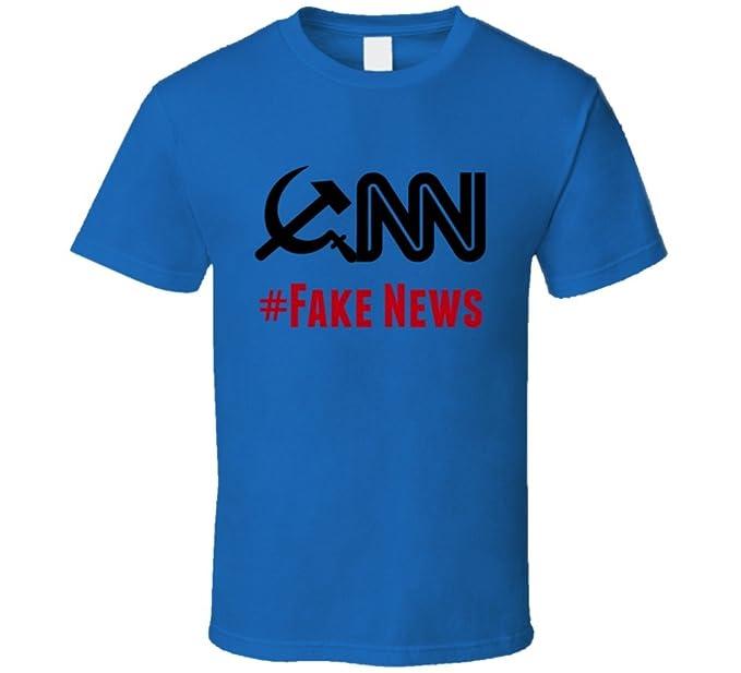 8edc3663bd63b Trendy Tees CNN #Fake News T-Shirt by Fake News Media Clothing Tee