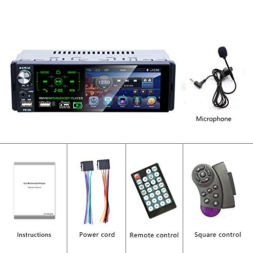 Podofo Single Din Car Stereo - Bluetooth Car Radio with RDS Turner Car MP5  Multimedia Player Support Steering Wheel Control/USB/Reversing