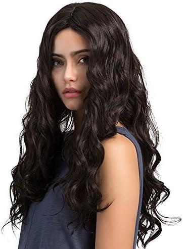 TopWigy Peluca larga y rizada Pelucas de onda larga Pelucas de cabello sintético Pelucas de onda larga y negra para mujeres 26 pulgadas para fiesta diaria: Amazon.es: Belleza
