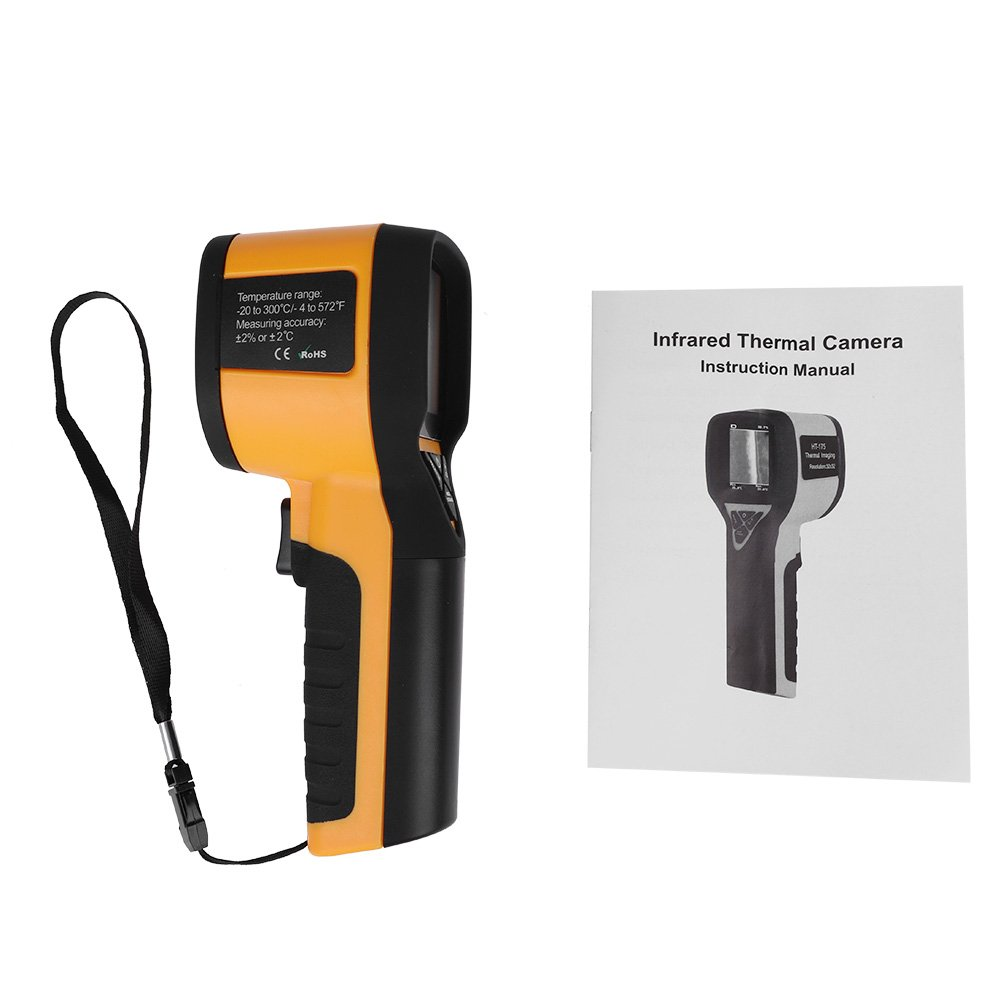 Akozon IR Infrared HT-175 Thermal Imaging Camera -20~300 Degree Celsius 3232 Resolution, Handheld Infrared Thermal Imager Xinrub