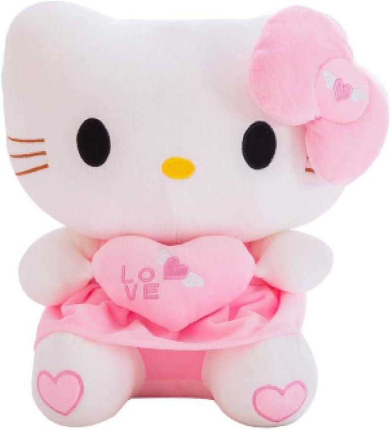 XIAOMOLAO Kawaii Cat Hello Kitty Plush Doll 40Cm, Cojín De Juguetes De Animales De Peluche, para Niños Baby Children Party Birthday Gift