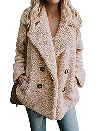 MuCoo Women's Fleece Jackets Open Front Warm Winter Jacket Coat Outwear Pockets