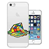 C01571 - Melting Rubik Cube Design iphone SE / iphone 5 5S Fashion Trend CASE Gel Rubber Silicone All Edges Protection Case Cover