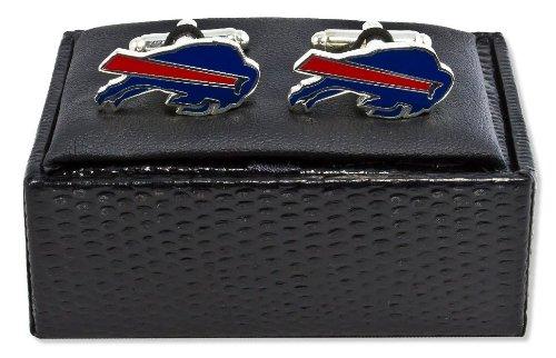 NFL Buffalo Bills Cut Out Logo Cuff Link, Silver