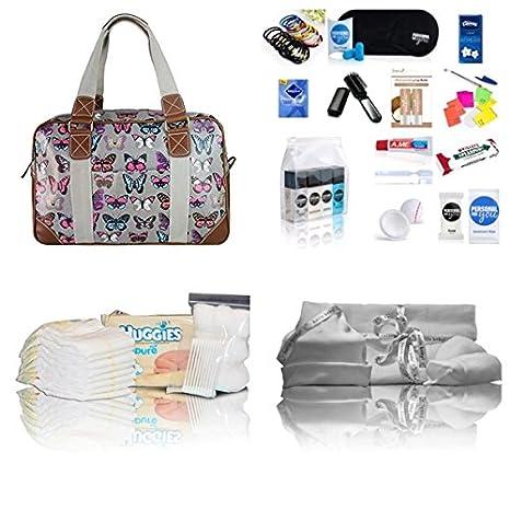 Lujo Miss Lulu hule Bags of hospital/maternidad/bolso cambiador para mamá y bebé
