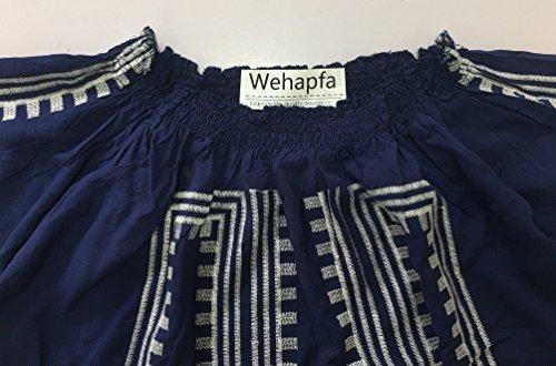 M) Wehapfa Womens Bathing Suits Cover Up Off Shoulder Swim Beach Swimwear (Navy