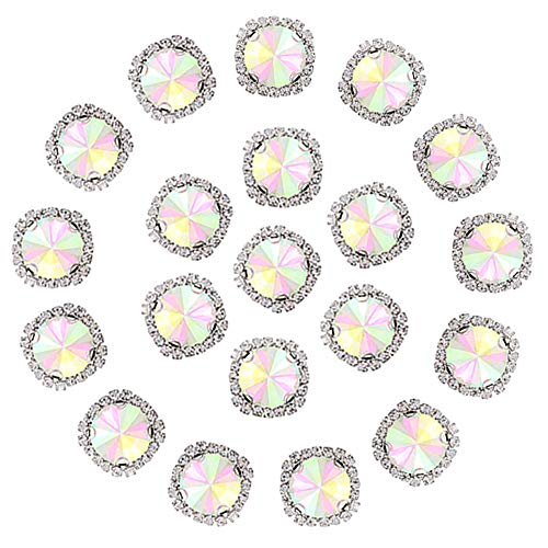 Flat Back Rhinestones Buttons Embellishments with Diamond, Sew