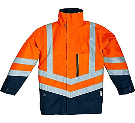 9bc355cd7 Deltaplus 5426555 Optimum-Hv Panoply Parka, X-Large, Neon Orange ...