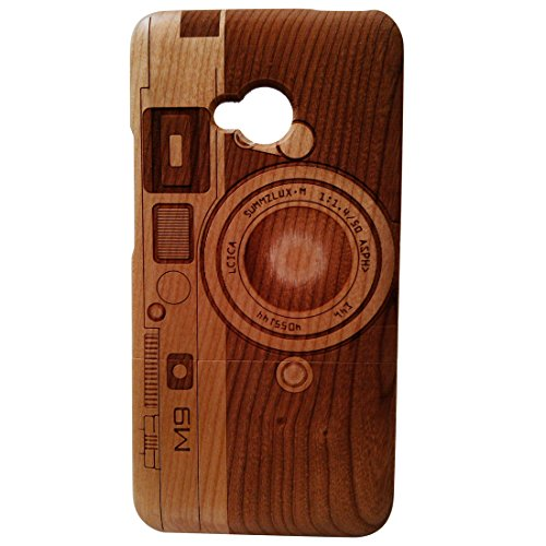 - Deluxe Cherry Wood 100% Natural Wood Case Laser Engraving M9 Camera HTC One M7 Wood Cover Skin for HTC One M7 Wood Case Skins Covers