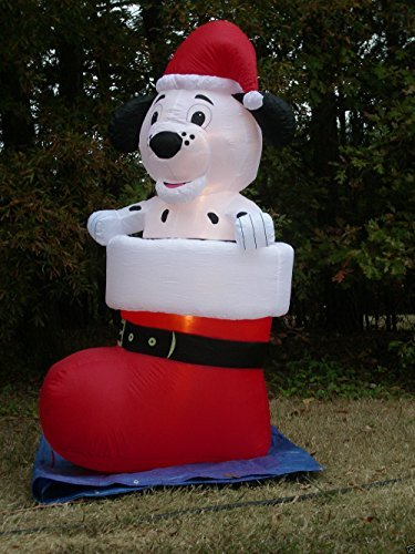 Gemmy Airblown Inflatable Dalmatian Puppy Dog Wearing a S...