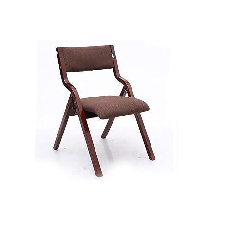 Amazon.com: Plegar sillas casa simple curvo silla plegable ...