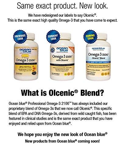 Ocean blue professional omega 3 2100 with oclenic softgels for Ocean blue fish oil
