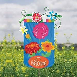 Soporte de bandera de primavera flores jard n for Banderas decorativas para jardin
