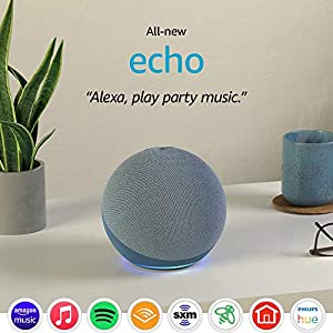 All-new Echo (4th Gen) | With premium sound, smart home hub, and Alexa | Twilight Blue 5