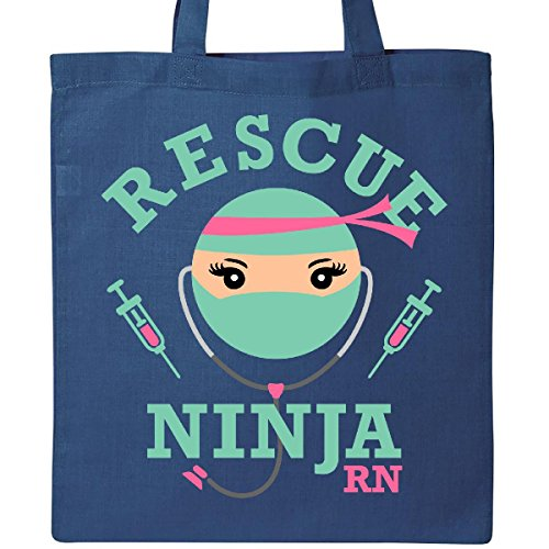 Inktastic Rescue Ninja RN Tote Bag Royal Blue