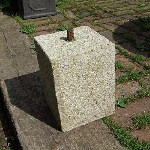 Round Wood 125mm Granite Straight Staddle Stone//Oak Frame//Settle Stone//Construction//Support//Outdoors