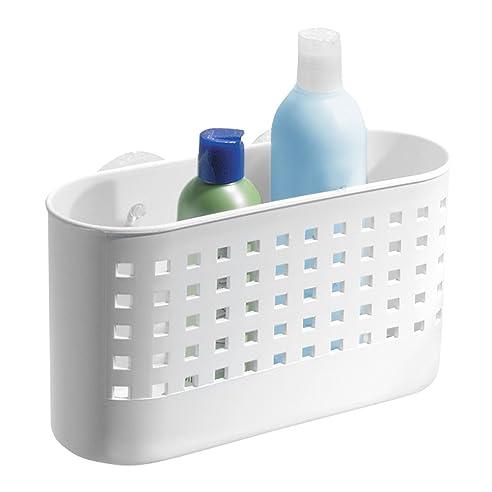 interdesign basic duschkorb duschzubehr ohne bohren mit saugnapf aus kunststoff wei - Duschzubehor Zum Hangen